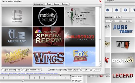templates for aurora 3d presentation features functions easy 3d text icon logo maker