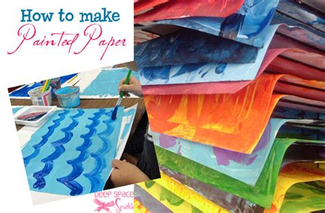 How To Make Prints On Paper - how to make painted paper space sparkle
