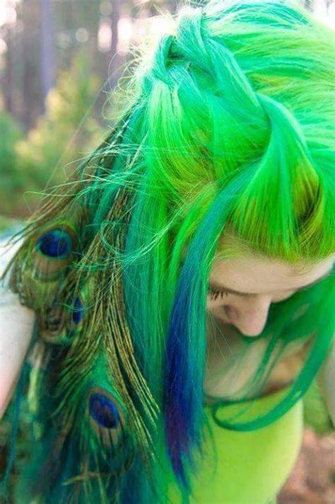 peacock colored hair peacock colored hair
