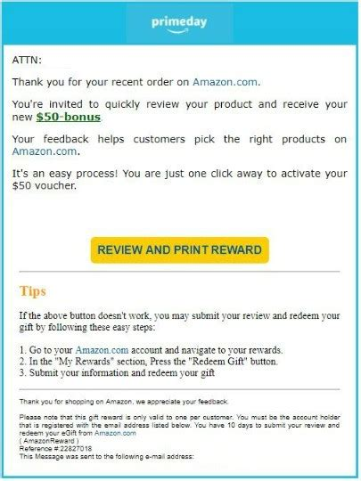 amazon email your prime day shopping spree might result in phishing