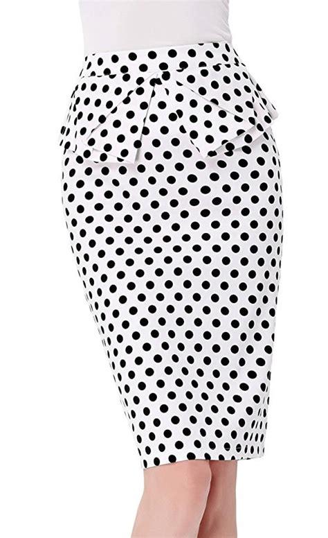 Polka Dot Pencil black and white polka dot vintage pencil skirt 1950sglam