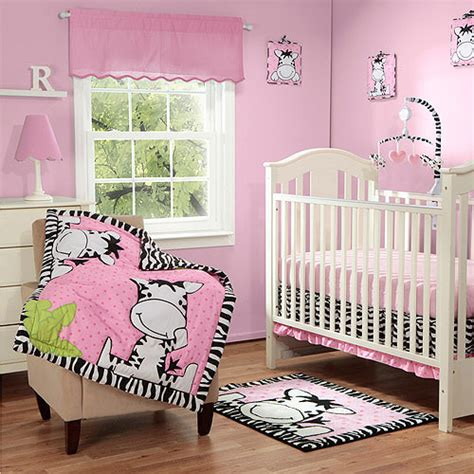 Zebra Nursery Bedding Sets Baby Boom I Zebra 3pc Crib Bedding Set Pink Walmart