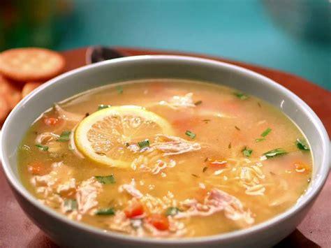 chicken soup food chicken lemon orzo soup recipe jeff mauro food network