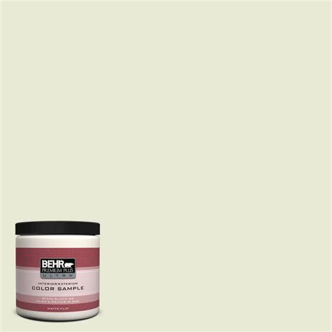 behr premium plus ultra 8 oz 410e 2 celery interior exterior paint sle 410e 2u the