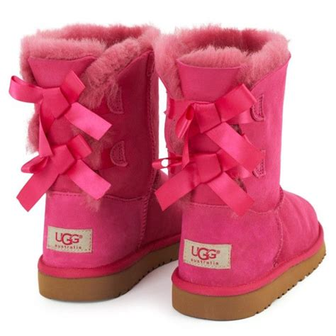 pink ugg boots with bows pink bow laced ugg boots things to wear