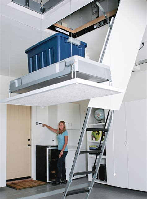 Garage Storage Elevator 1000 Ideas About Attic Lift On Attic