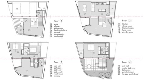 split level house floor plans floor plans terrace split level house in philadelphia by qb design