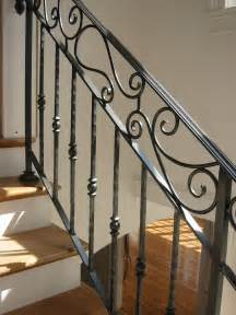 Banister Baluster Hand Crafted Custom Interior Wrought Iron Railing By