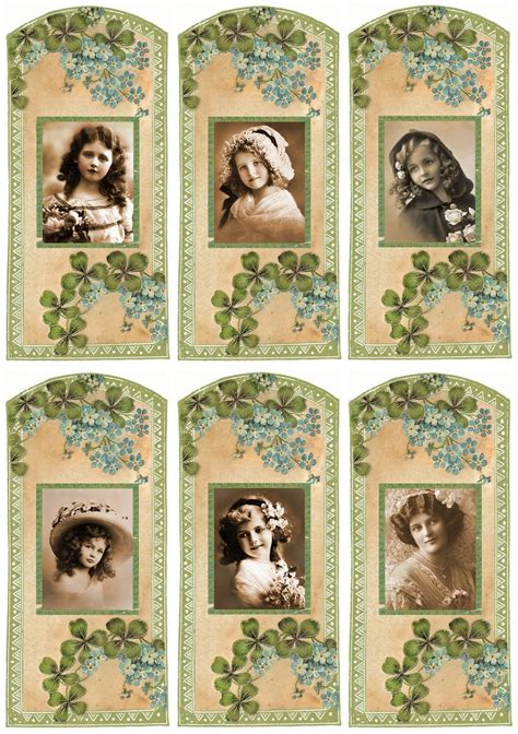 printable bookmarks vintage vintage bookmarks fonts labels printables pinterest