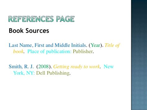php reference books with author name citing your sources apa