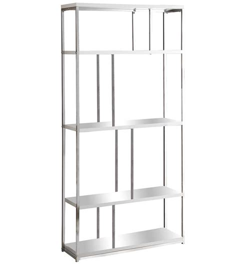 72 white bookcase 72 inch metal bookcase glossy white in bookcases