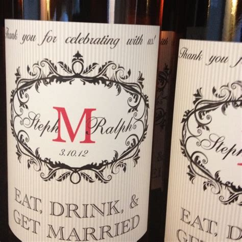 Our Wedding The Favors by Our Wedding Favors Bottles Of The Local Wine W