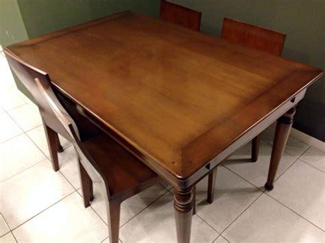 tavolo le fablier tavolo ciliegi rettangolare allungabile legno massiccio