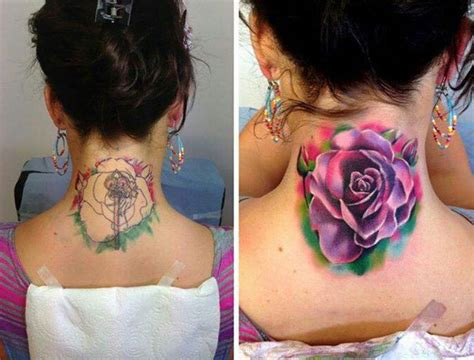 old watercolor tattoo coverup design ideas from tailors