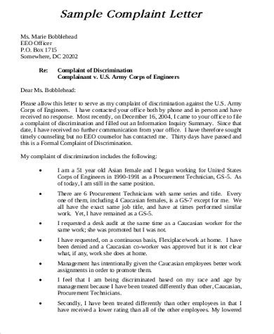 Complaint Letter To Government Template sle formal complaint letter 8 exles in word pdf