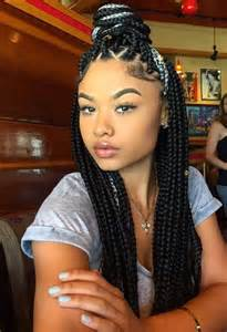 Bohemian curls box braid plus 5 other hairstyles we noticed over the