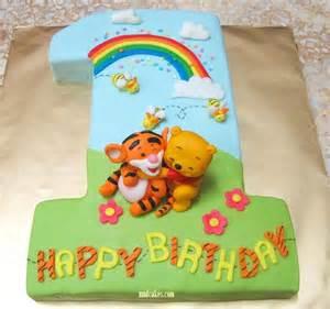 Mom and daughter cakes tigger on no 1 fondant birthday cake