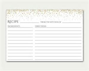 recipe card template 4x6 4x6 recipe card etsy