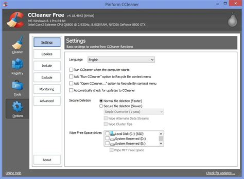 ccleaner xp 64 bit ccleaner 4 18 released with better windows 8 1 64 bit support