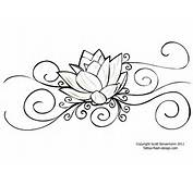 Tattoo Flower Lotus Design For Women
