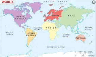 Map Of The World Continents by Pics Photos World Map Continents