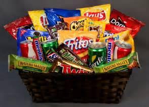 snack baskets big basket of calories