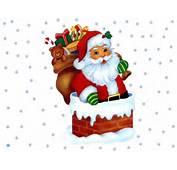 Papa Noel Trineo Luna Dibujo De Navidad Para Imprimir