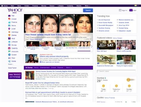 email yahoo india yahoo india launches a redesigned homepage wants to