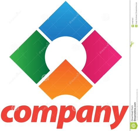 corporate logo design template royalty free stock