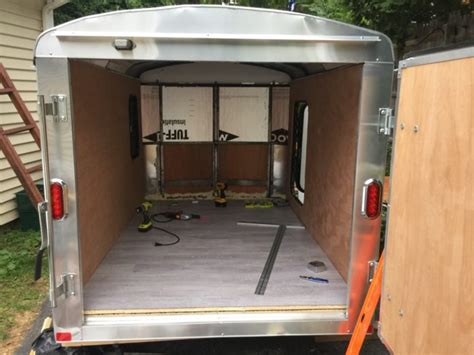 man transforms new cargo trailer into an epic cer