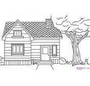 How To Draw A House Step By Buildings Landmarks &amp Places FREE