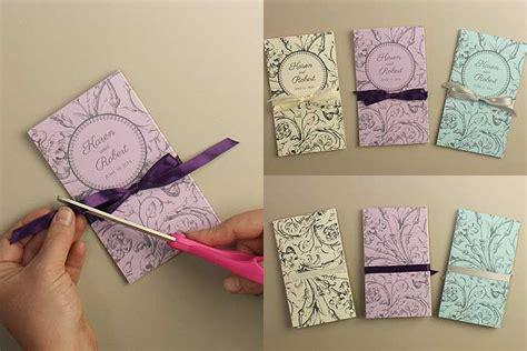 diy folded card template accordian fold diy wedding program