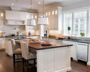 White kitchen cabinets butcher block countertops black granite