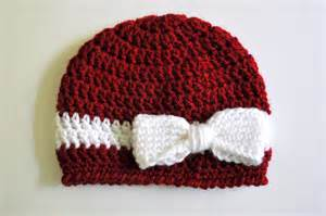 Free pattern crochet bow and ribbon baby hat classy crochet