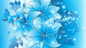 Wallpapers for gt light blue flower background design