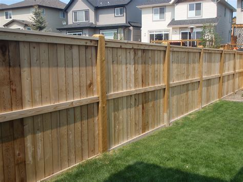 backyard fence design trendy western red cedar dog ear pine wood fence panel