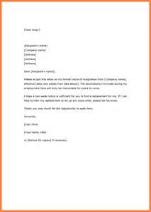 Two week notice letter notice letter for two weeks notice letter word