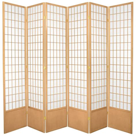 7 ft natural 6 panel room divider 84wp nat 6p the home