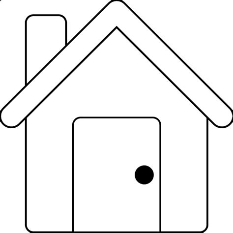 house outline house outline clipart black and white clipart panda