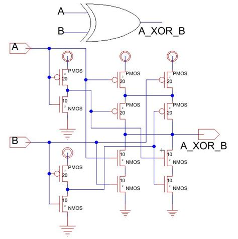 xor gate transistor diagram xnor gate transistor schematic xnor get free image about wiring diagram