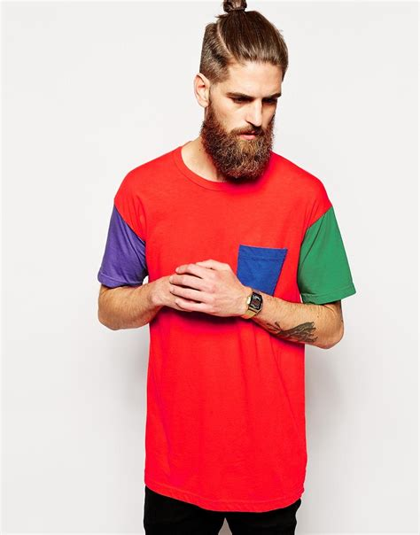 s color block shirt american apparel washed color block t shirt in for