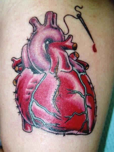 tattoo realistic heart 6 latest real human heart tattoos