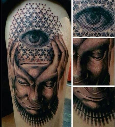 surreal tattoos surreal pixel third eye ink