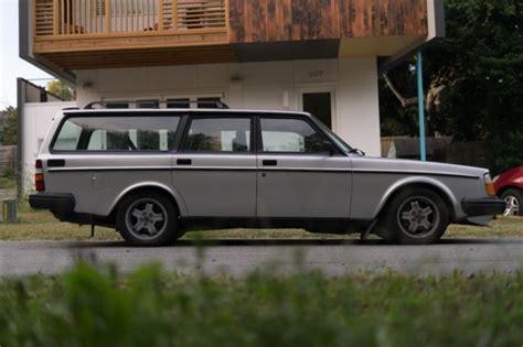 volvo   turbo wagon manual trans blk leather suspension upgrades classic volvo