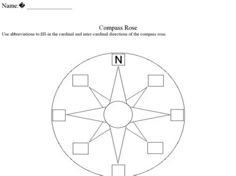 printable compass template blank compass worksheet fioradesignstudio