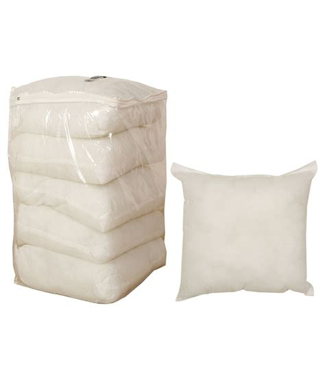 home decor white premium cushions without covers