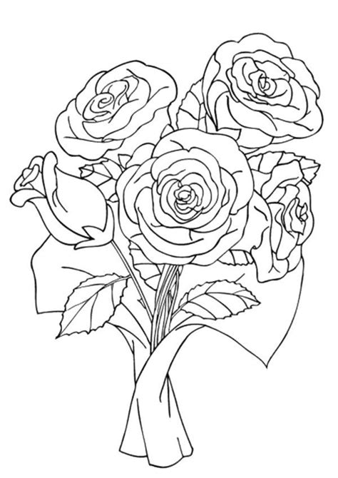 Bunch Of Roses Coloring Pages