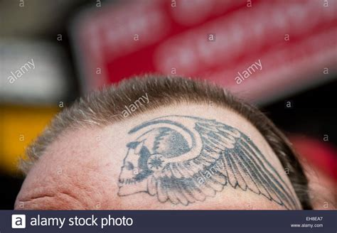 hells angels tattoos a member of the rocker hells motorcycle club