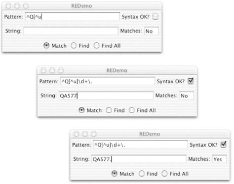 pattern matching tester 4 pattern matching with regular expressions java