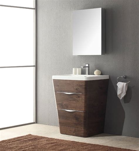 25 Inch Bathroom Vanity by Acqua 25 Inch Modern Bathroom Vanity Rosewood Finish